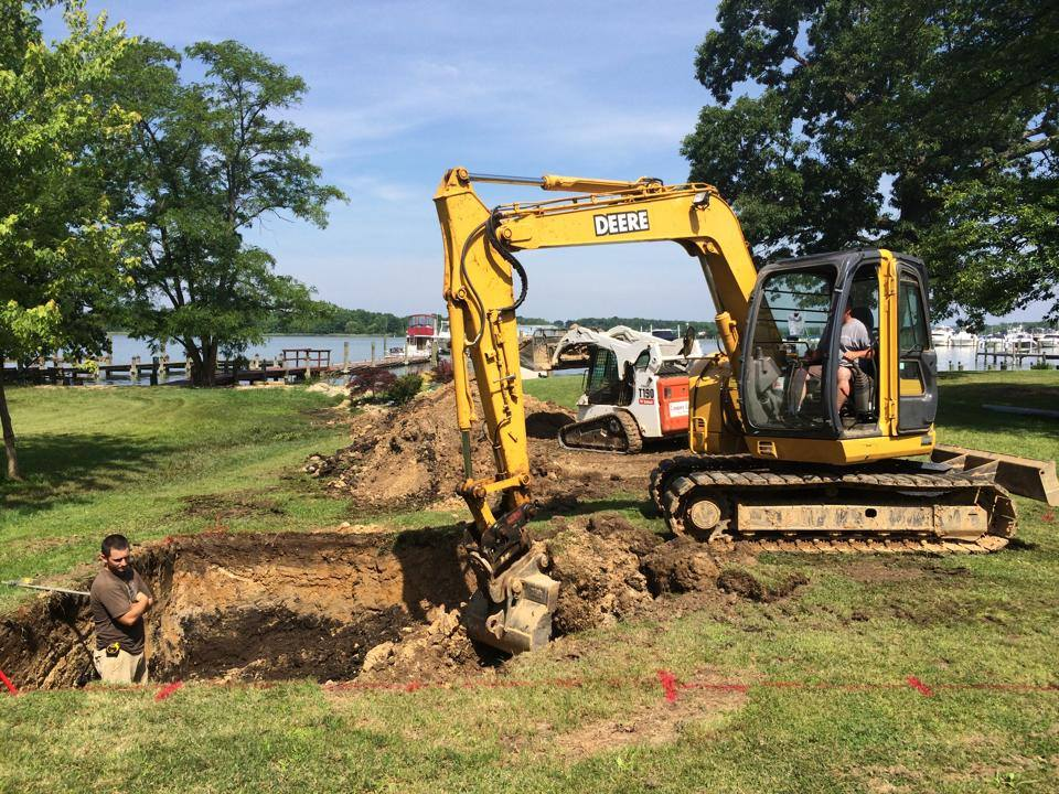 Woodfield Pool Construction Excavator