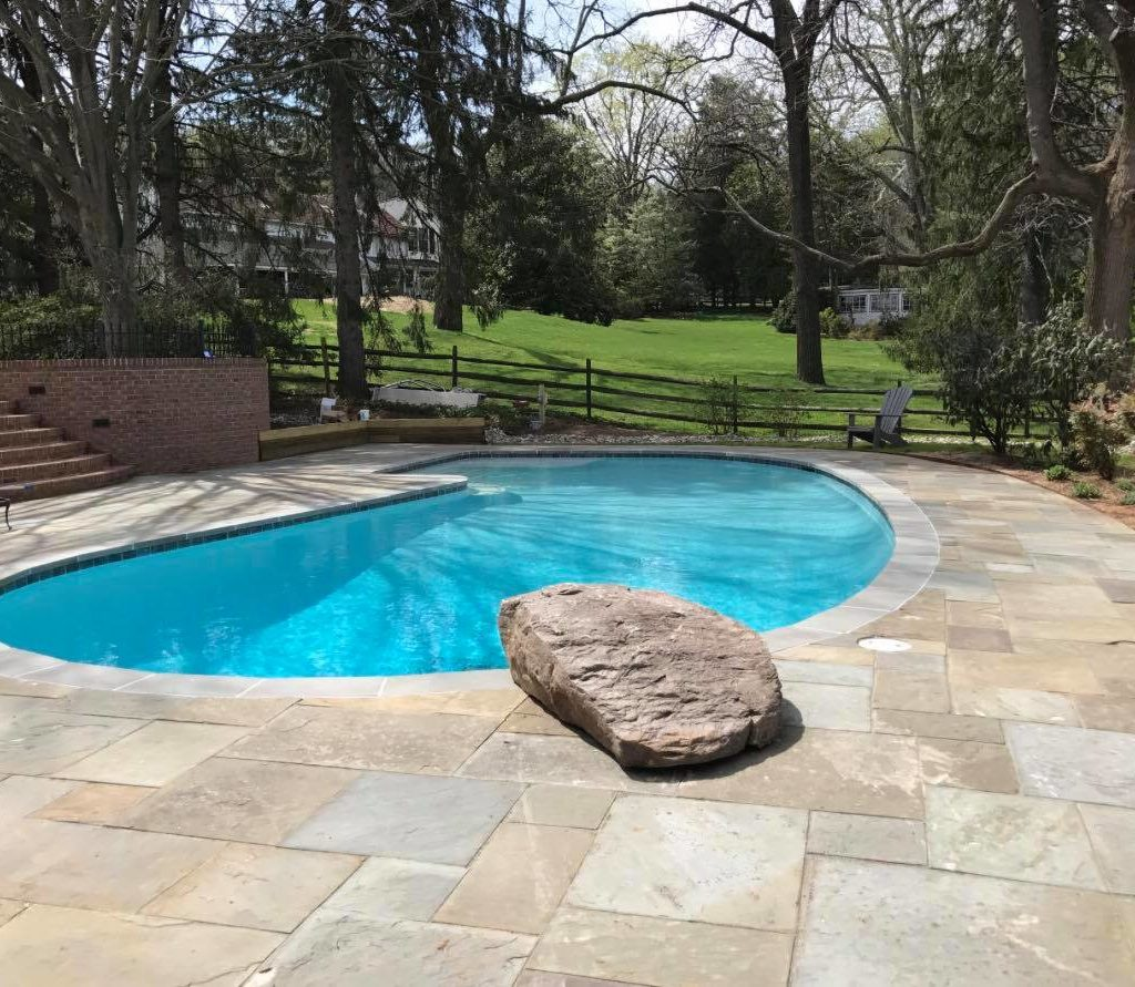 Woodfield Pool Landscape With Stone Slab