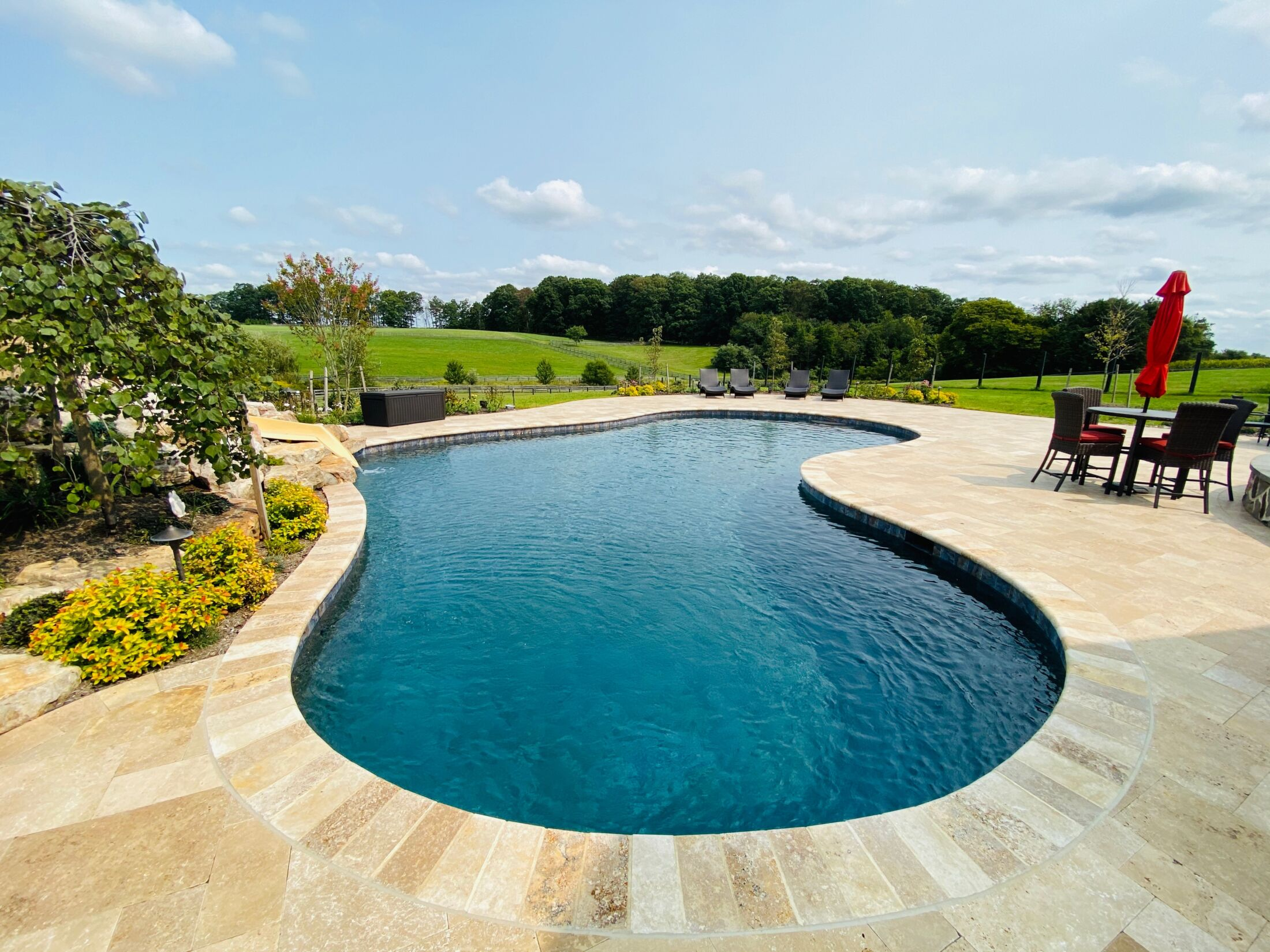 Inground Pool And Landscaping