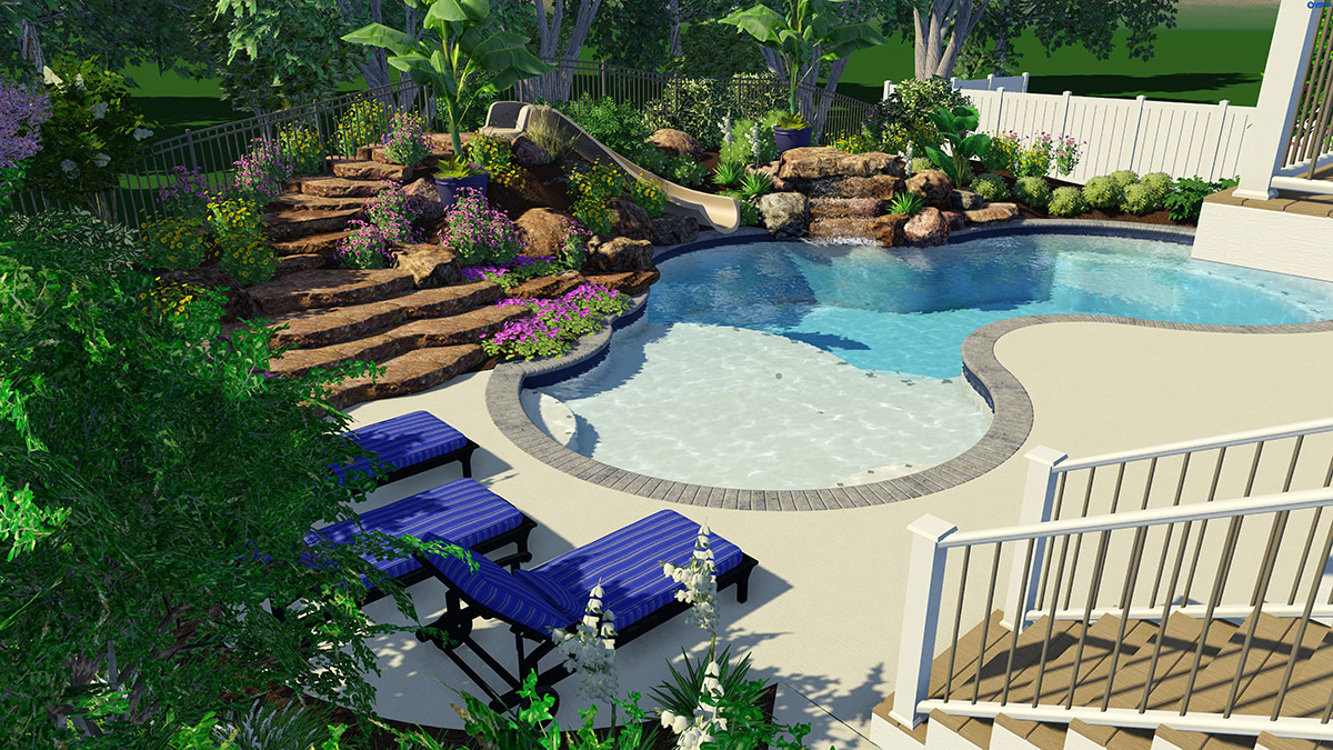 Woodfield Inspiration In Action: Custom Lagoon Swimming Pool Design And Installation