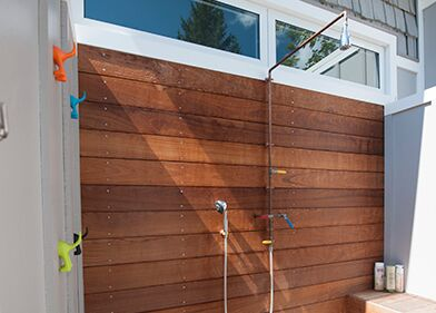 Add An Outdoor Shower To Your Pool Area