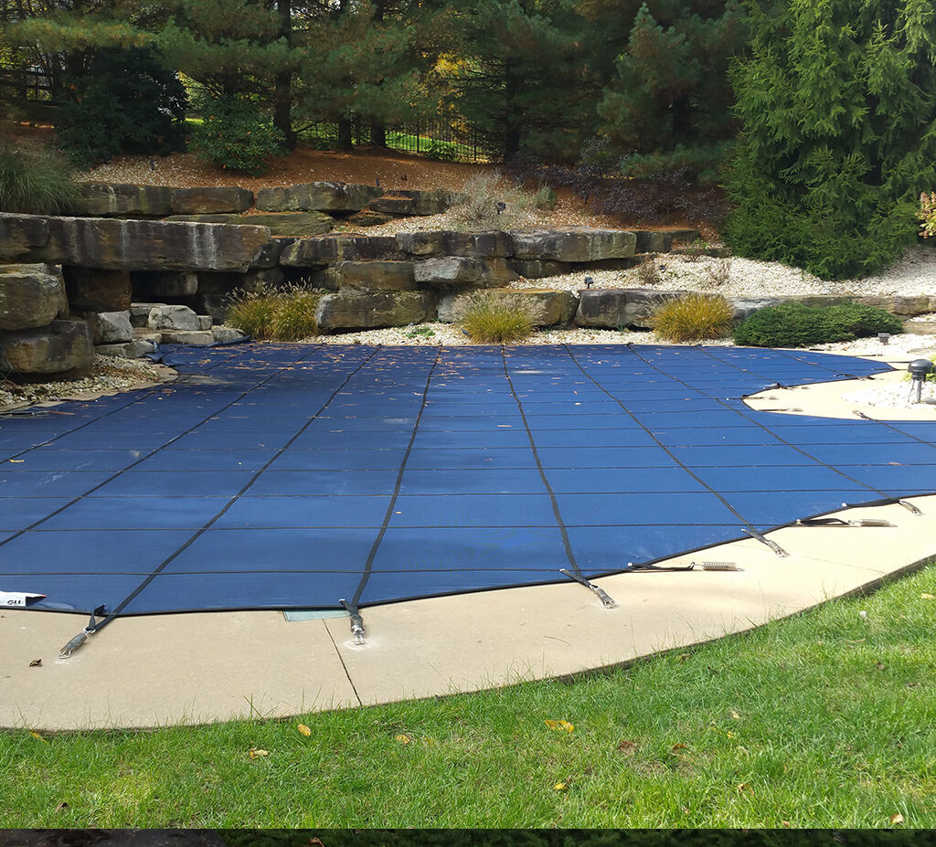Blue Outdoor Pool Cover