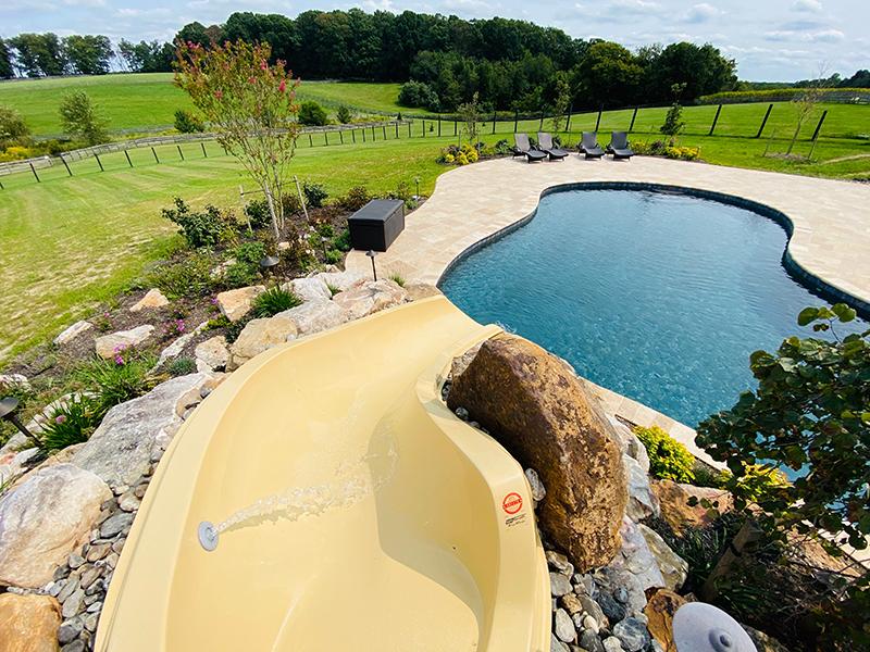 Inground-pool-slide